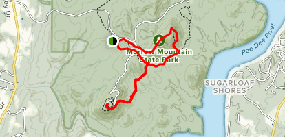 Sugarloaf and Morrow Mountain Map