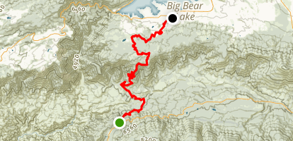 Clark's Grade to Big Bear Map
