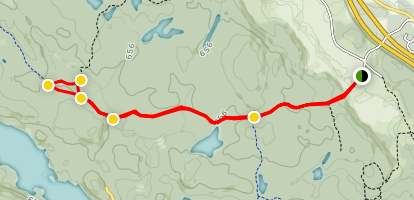 Trail 50 to Healy Creek Map