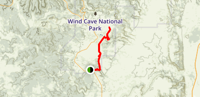East Bison Flats Trail Map