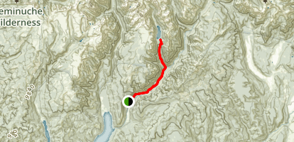 Pinos River Trail to Emerald Lake Map
