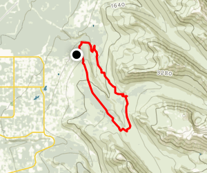 Middle Fork and Powerline Loop Trail Map