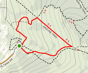 Silver Fern and Gasline Trail from Glen Alps Overlook Map