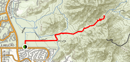 Levee Trail to Bell Pass Map