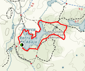 Los Barruecos Map