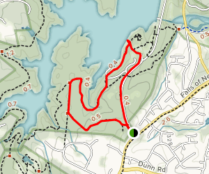 Long Leaf and Falls Lake Loop Map