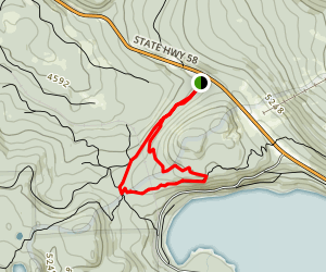 Gold Lake Shelter to Eagle Rock and Odell Lake Overlook Map