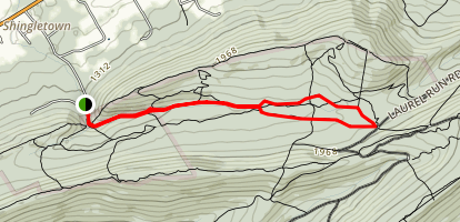 Lower Trail to Shingletown Gap Trail Map