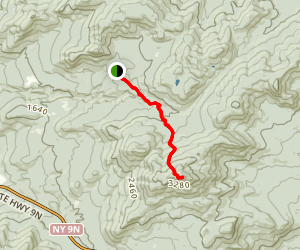 Hurricane Mountain Trail: Northern Approach Map