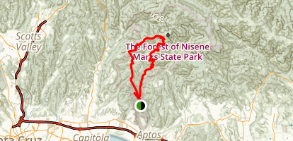 Top of the Incline and West Ridge Loop Map