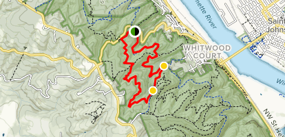 Wildwood Trail and Leif Erickson Drive Trail Loop Map