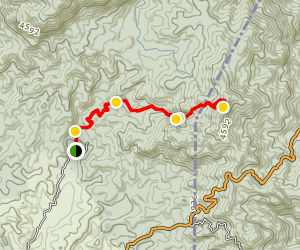 Las Nubes Trail Map