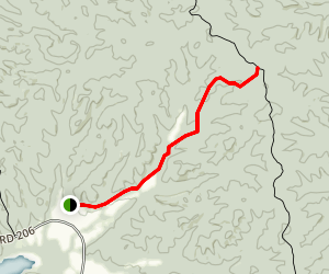 Wildcat Hollow Access to North South Trail LBL Map