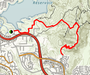 Mother Miguel Mountain via Sweetwater Park Map