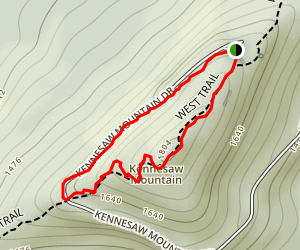 Little Kennesaw Trail Loop Map