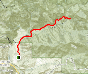 Santa Paula Canyon and Punch Bowls Trail Map