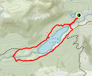 Jean Lunning Trail and Pawnee Pass Loop Map