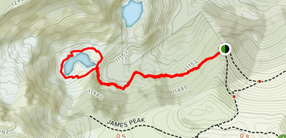 James Peak Lake Trail Map