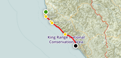 Lost Coast Trail: Mattole to Black Sands Beach Map