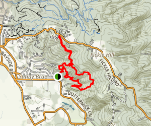 Bieth Loop Trail- Arcata Community Forest Map