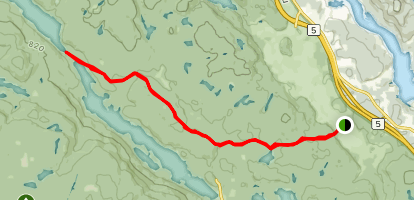 Trail 50 to Lac Phillipe Map