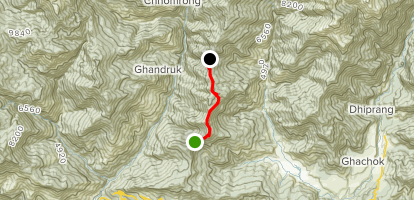 Deurali to Forest Camp Map