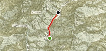 Low Camp to High Camp Map