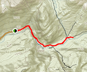 Steall Gorge and Waterfall Map
