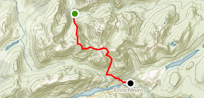 Mamores Traverse Map