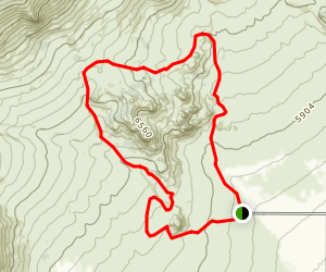 Cathedral Rock Loop Map