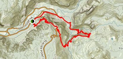 Four Mile Trail to Panorama Trail Loop Map