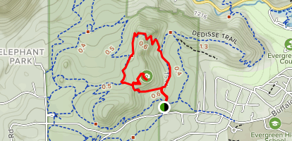 Brother's Lookout and Three Sisters Loop Map