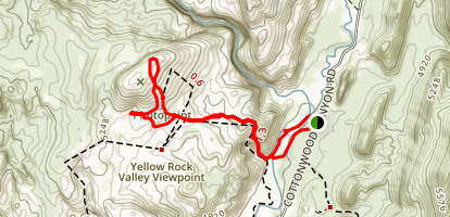 Yellow Rock near Cottonwood Canyon  Map