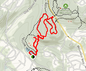 Yellow and White Trails to Mountain Way Map