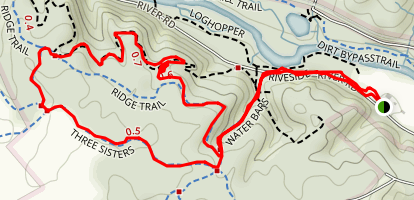 Three Sisters to Valley View Trail Loop Map