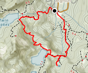 Dog Lake, Lake Mary, Twin Lakes Reservoir Loop Map
