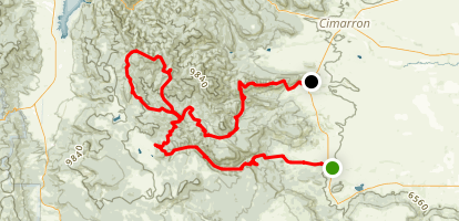 Philmont Scout Ranch: Itinerary 9 Map
