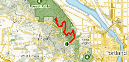 Wildwood Trail from Macleay Park Map