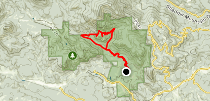Staunton Ranch Trail to Border Line and Old Mill Trail Loop Map
