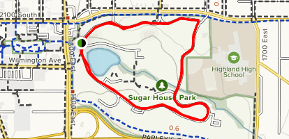 Sugar House Park Loop Map