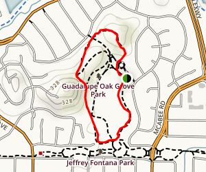 Guadalupe Oak Grove Park Loop Map