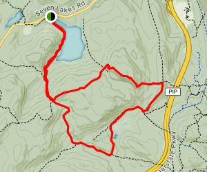 Black Mountain and Owl Lake Loop Map