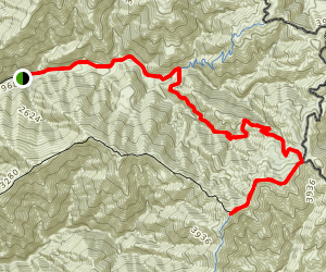 Los Pinos Peak via West Horesthief and Trabuco Trail  Map