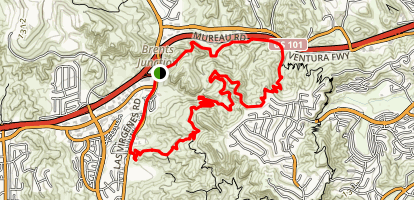 Anza Loop Trail to Calabash Canyon Loop Trail Map
