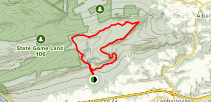 Appalachian Trail, Pinnacle Trail, Valley Rim and Pulpit Rock Map
