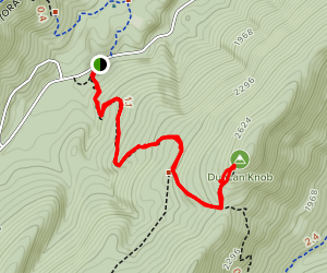 Gap Creek Trail to Duncan Knob Map