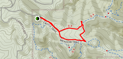 Castle Trail to Meadow Trail Loop Map