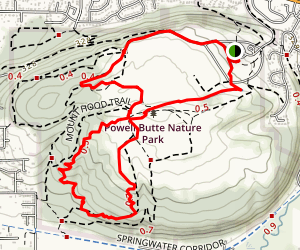 Forest Edge, Meadow Lane, Douglas Fir, Summit Lake, Mountain View Loop Map
