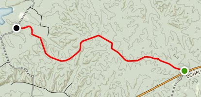 Taylor Cemetery to Hwy 79 Map