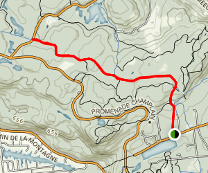 Kingsmere to Keogan Cabin Map